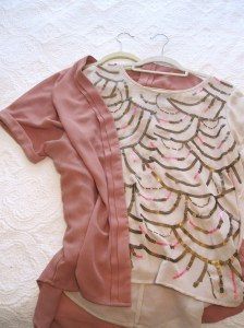 Some great bargain pieces in blush and with embellishments from Dex and Material Girl.