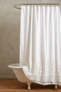 Our shower curtain (Anthropologie)