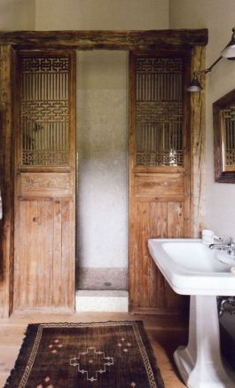 A shower you'd never want to leave. The doors. Wow. Enough said. Found on lilibaba.tumblr.com