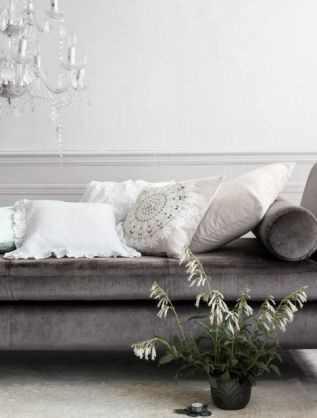H&M knows this trend is alive and well, and recently featured a velvet daybed, quaint cushions, chandeliers and waintscotting in its (not yet available in Canada) home line.
