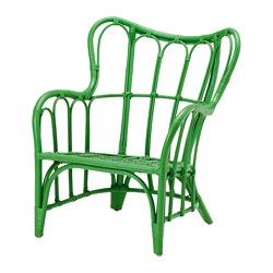 Kelly Green... or whatever shade, looks like a slam dunk to me in this retro shape that alludes to its exotic origins. Ikea, $79