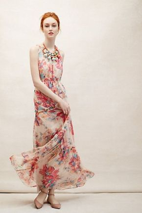 Anthropologie dress brings brings the requisite blooms to the party.