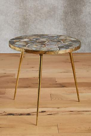 High-end end table from Anthropologie. Undeniably beautiful and unique. Agate End Table $498.00