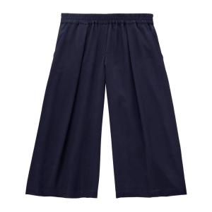 Next up Culottes. Long suffering butt of jokes about skirt-pants. This outmoded item is back and here's why: it's SO comfortable, has the cut of a trouser in the hips, pockets!, none of the thigh-rubbing of skirts and can be worn high with a crop top or something tucked in... or low and casual. I got these (now sold out) $29 babies in navy and moss green.