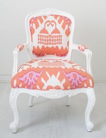 White paint frames this gorgeous print that is both soft and bold.
