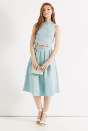 Wedding or Shower: this pastel two-piece is sweet and pretty, with just a touch of modern edge.