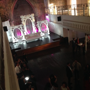Opulent interior and pre-crowd venue.