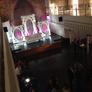 Opulent interior and pre-crowd venue.
