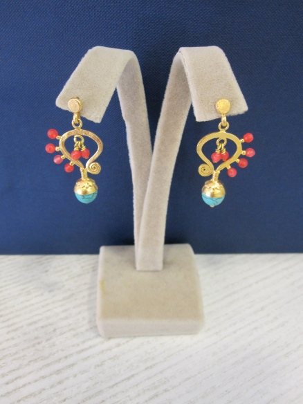 My favourite earrings. The Butterfly. The colour was just amazing.
