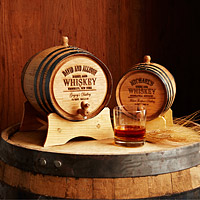 If they REALLY like to drink: a personalized whisky barrel.