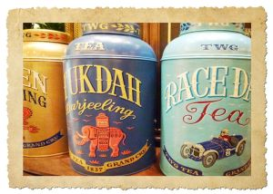 Also, try some yummy blends of tea in pretty tins.