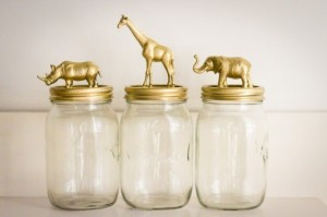Jar toppers for cosmetics, q-tips and cotton balls, or even candy jars.