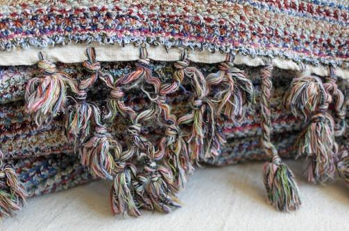 Hand-woven organic cotton towel.