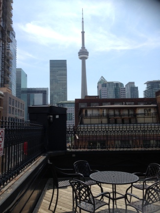 Downtown Toronto, skyline from the Much Music rooftop garden.