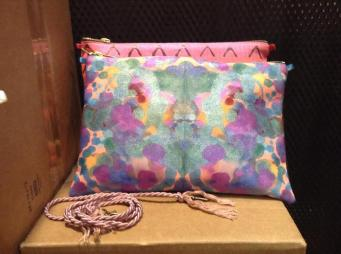 Pretty painted pouches!