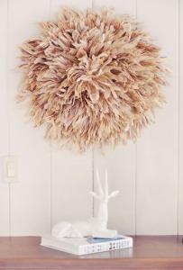7-DIY-african-juju-hat-feather-wall-art-