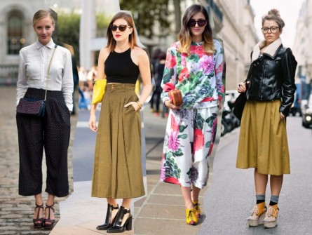 how to wear the trends ways to wear culotte culottes pants trend fashion blog outfits 2014 spring